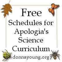Free Printable Resources for Apologia's Science Curriculum - Some of the resources are lesson plans, TOC planners, and lists, such as vocabulary.