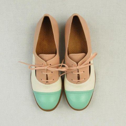 Cute pastel oxford shoe
