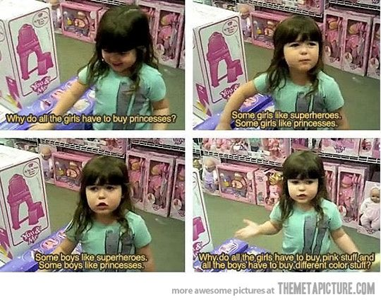 This little girl has a good point…