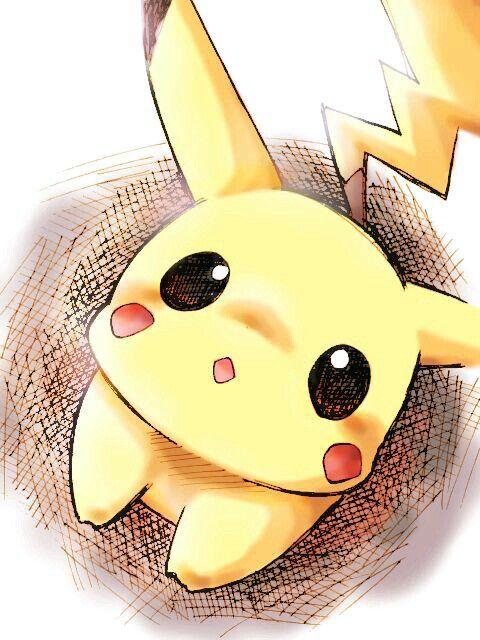 #Pikachu #dibujo #tierno                                                                                                                                                      Más