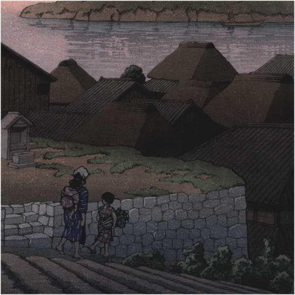 Kawase Hasui détail - Amakusa Honryo 1937 (HK05)