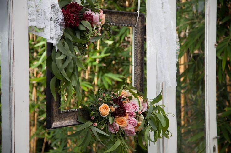 Frame adorned with Fresh Flower & Foliage