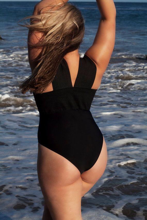Plus size Bandage swimsuit/ bathing suit one piece by LILYSHdesign