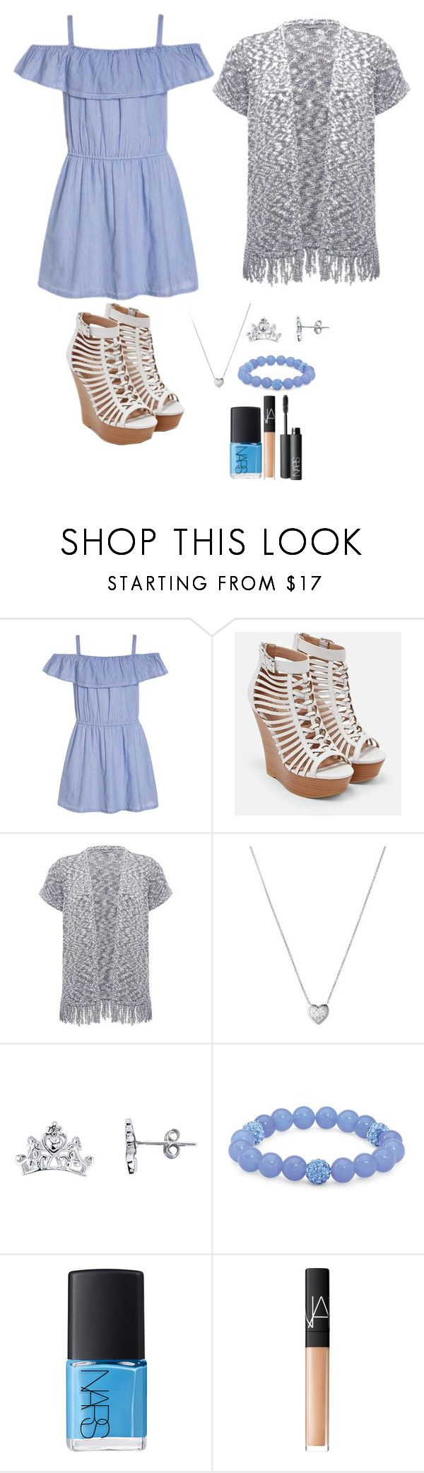 """""""Baby Blue and Ash Grey"""" by mias-angels on Polyvore featuring Abercrombie & Fitch, JustFab, M&Co, Links of London, Disney, Palm Beach Jewelry and NARS Cosmetics"""