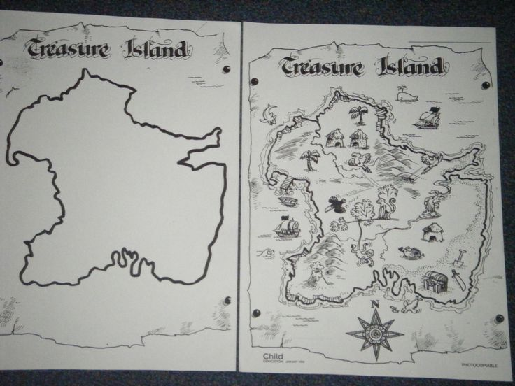 Child Education magazine 1999 - a blank and a complete treasure map - the children could have a go at making their own treasure map!