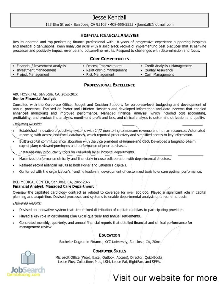 Junior Financial Analyst Resume 2020 Financial Analyst