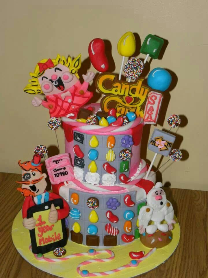 17 Best Images About Candy Crush Cake On Pinterest