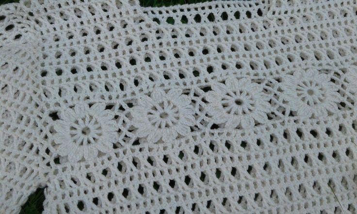 """Пуловер """"Цветочный"""". Часть 6/ Pullover Crochet"""