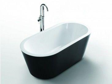 Seville 1520 Freestanding Black Bath