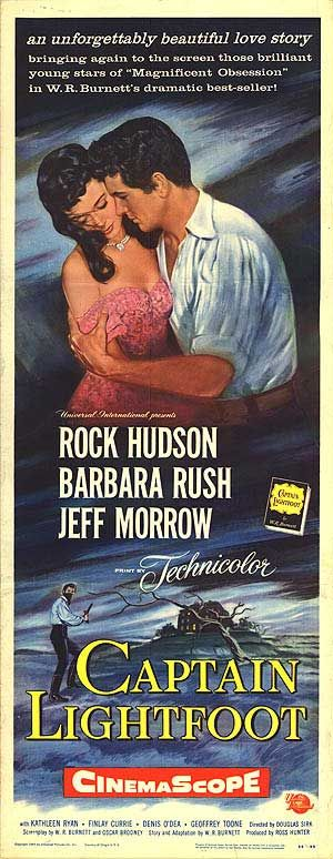 """CAPTAIN LIGHTFOOT"" (1955) ROCK HUDSON, BARBARA RUSH, JEFF MORROW"