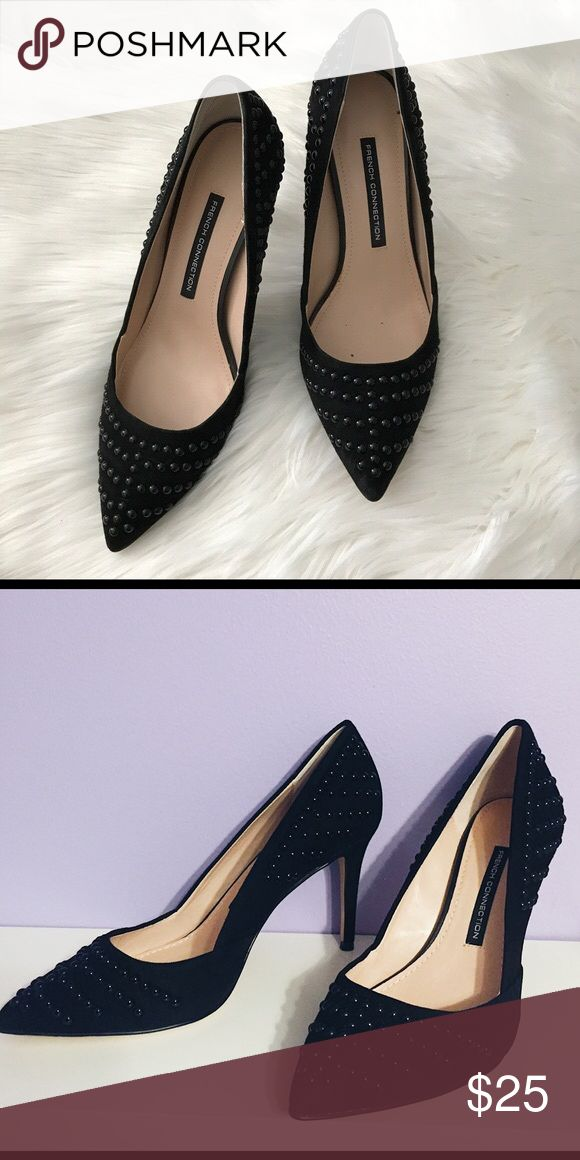 French Connection Studded Stiletto Pumps Brand new, never worn French Connection heels with black studding. Perfect for any occasion and in perfect condition! The money made will be donated to a nonprofit women's organization as well. Comes with original box and packaging. French Connection Shoes Heels