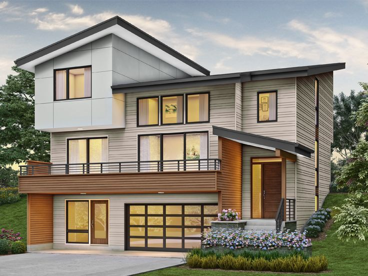 034H-0447: Modern Multi-Generational House Plan Fits a ...