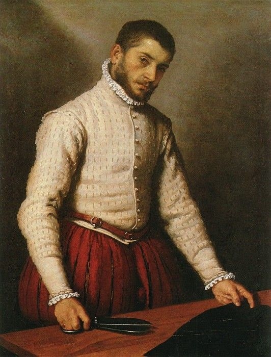 An Unknown Man (called the Tailor) by Giovanni Battista Moroni, c.1565-70. (National Portrait Gallery, London)