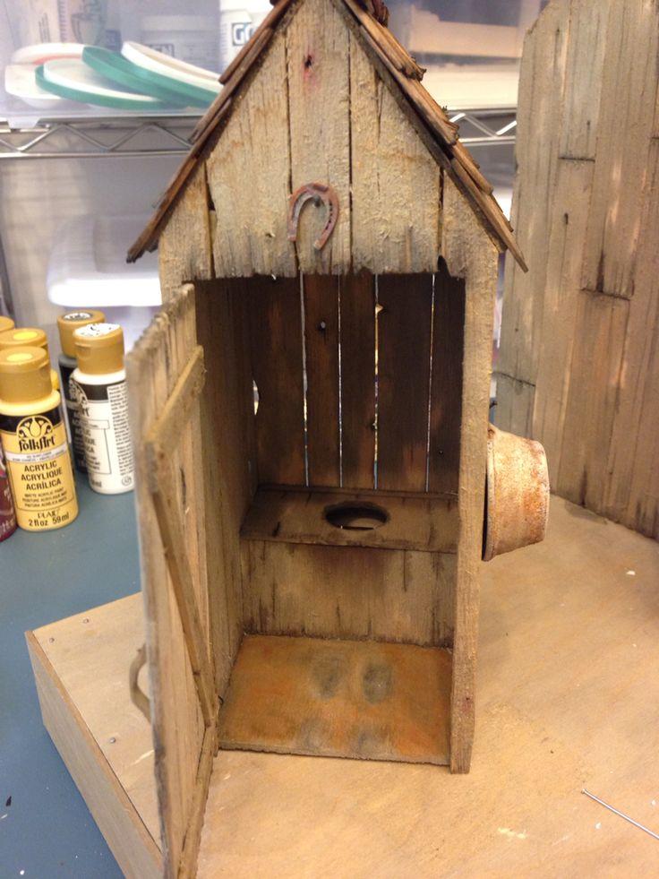 Inside Dollhouse Outhouse Model Trains Model Train