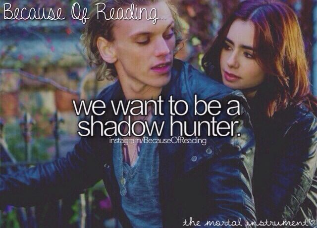 Because of Reading... Book: the mortal instruments series