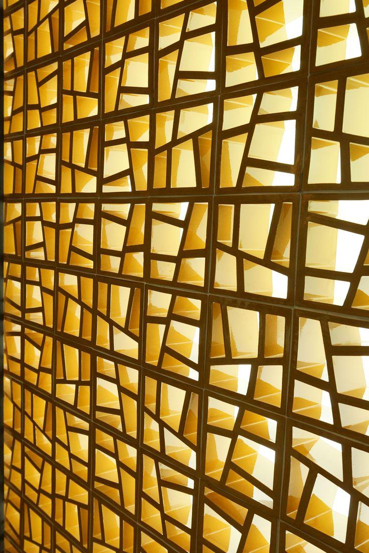 celosía ceramica modelo trencadís www.ceramicabosch.com
