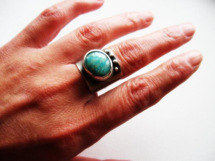 Amazonite Band Ring