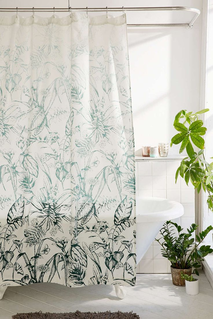 forest toile shower curtain