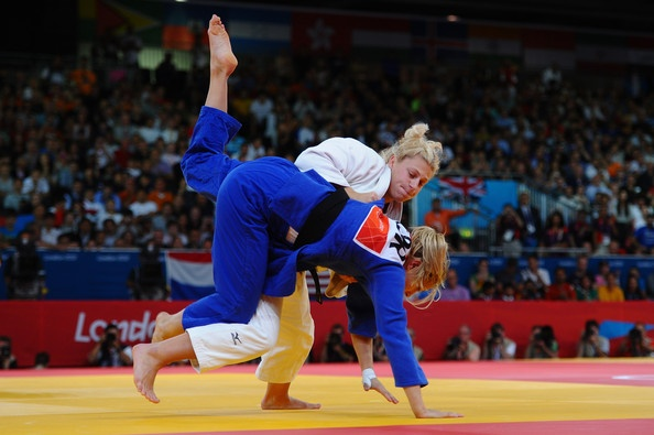 In This Photo:   Gemma Gibbons,   Kayla Harrison  Kayla Harrison of the United States (white) and Gemma Gibbons of Great Britain compete in the Women's -78 kg Judo on Day 6 of the London 2012 Olympic Games at ExCeL on August 2, 2012 in London, England.        (document.write(LocalTime.getMDY('August 01, 2012 16:00'));August 1, 20122012-08-01 16:00:00 - Source: Laurence Griffiths/Getty