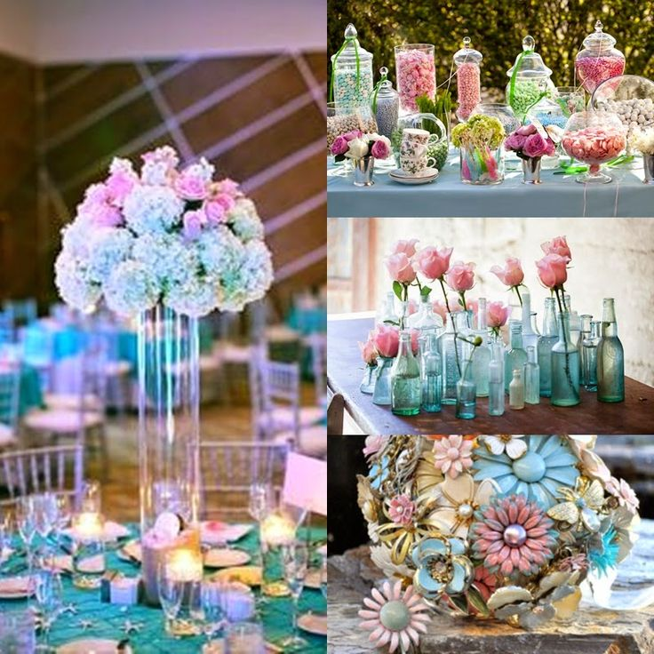 pastel pink and blue decorations for home | Pretty in Pastels | A Spring Floral Sweet Fifteen Quinceanera Theme ...
