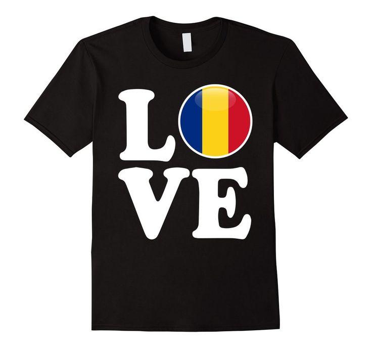 Women's Men's Romania - Love Romania Flag Fotbal Tricou T-Shirt