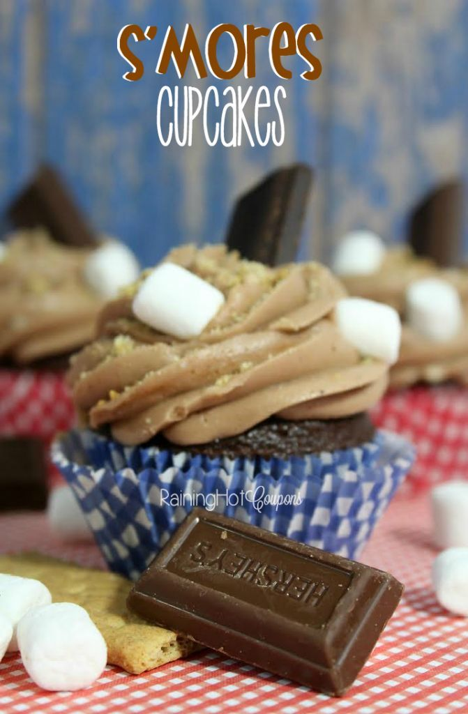 S'mores Cupcakes - If you love unique cupcake recipes, you will love this one! Chocolate, marshmallows, graham crackers make this yummy cupcake recipe. Perfect for S'mores lovers!
