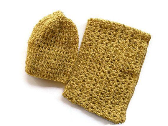 Chunky knit fall accessories scarf cowl set crochet handmade knit wool alpaca winter hat scarves wraps women's accessories slate grey