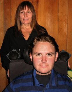 This isn't a picture of me or my son, it's just the picture shown on the site from the Muscular Dystrophy Association.  What you will find on this page, is a description of my oldest son's disease.  He is my hero, and has taught me so much about grace, courage, and living life to its fullest.  I will miss him so much when he's gone.  Words fail to honor what his short life will mean to me.