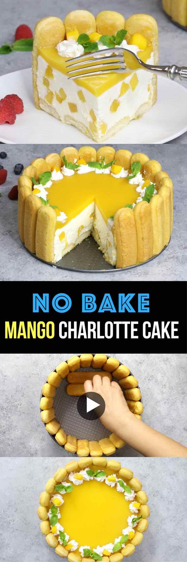 No Bake Mango Charlotte Cake – the most beautiful…