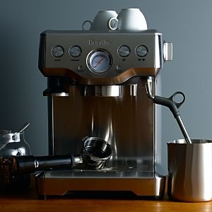 Some espresso machine, with a milk frother. I don't know anything about them, just a pretty, practical one.