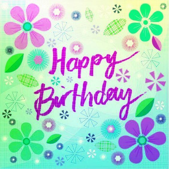 Happy birthday purple font