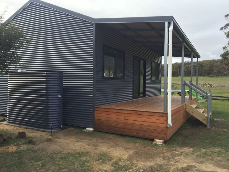 Recently completed 'The Shack' Kit Home by THE Shed Company Kilmore in the Victorian suburb Woodend.