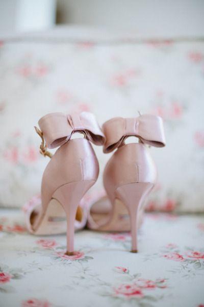 Pale Pink Satin + Bows