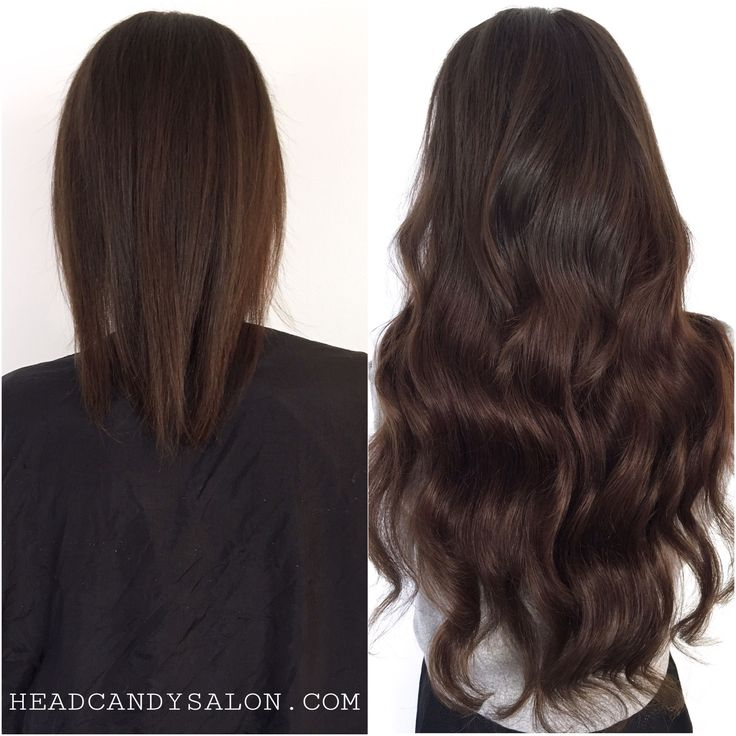 """Before And After 22"""" Tape Hair Extensions #tapehair #tapeextensions #hairextensions #torontoextensions"""