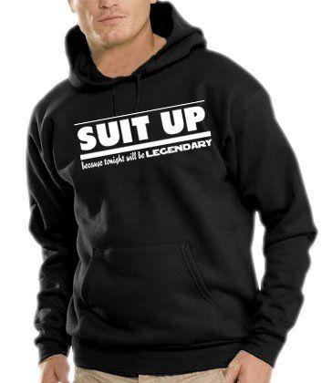 Touchlines Herren How I Met Your Mother - SUIT UP Kapuzen Sweatshirt B7088 black XL