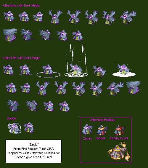 Sprite Database : Druid