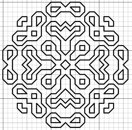 Blackwork Motif Pattern Version 2