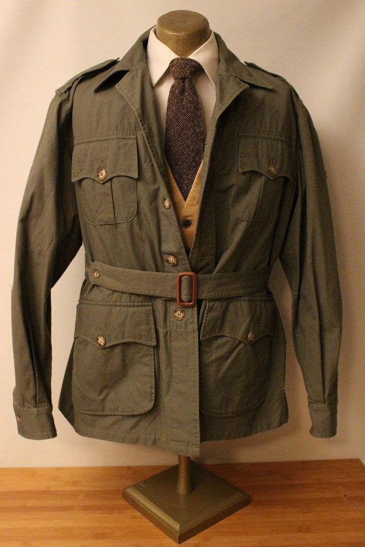 Vtg Willis Amp Geiger Bush Poplin Spring Weight Safari