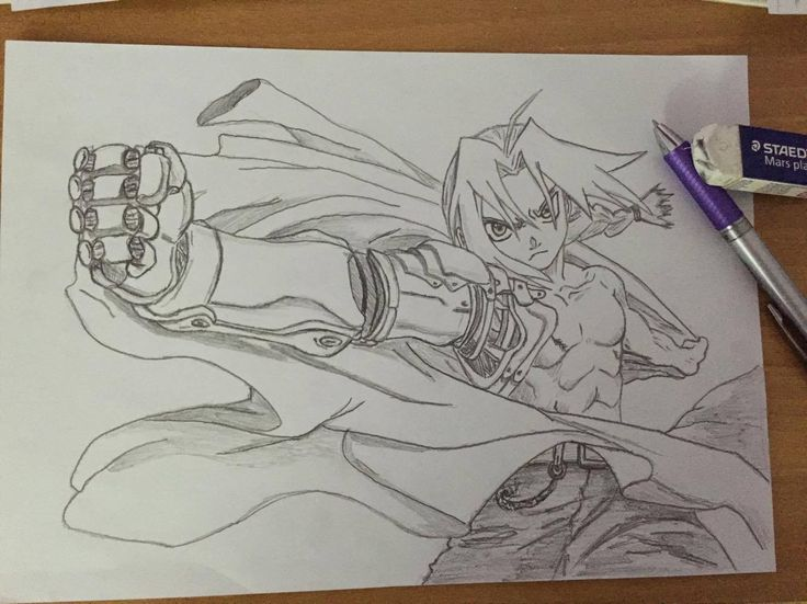 Edward Elric - Full Metal Alchemist - Draw - Pencil