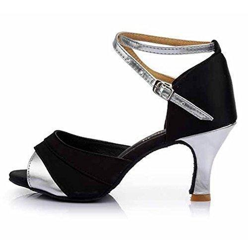 Oferta: 25.99€ Dto: -27%. Comprar Ofertas de HROYL Zapatos de baile/Zapatos latinos de el plateado satín mujeres ES7-F21 EU 39 barato. ¡Mira las ofertas!
