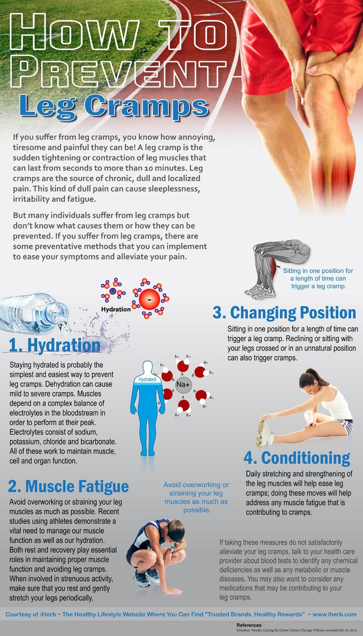 How to Prevent Leg Cramps (Infographic)