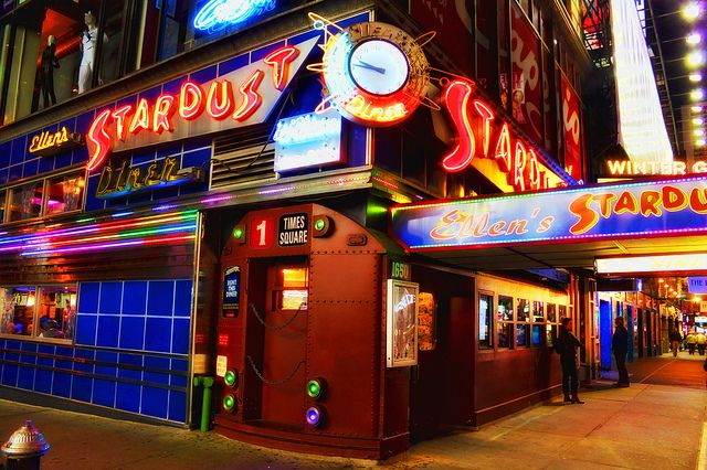 Ellen's Stardust Diner - a must for any NYC trip. So much fun, awesome desserts, and incredibly talented staff plus the authentic 50s diner feel :)