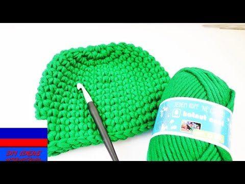 Зимняя шапочка на ребенка столбики без накида вязание крючком - YouTube