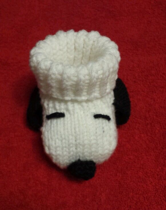 Snoopy baby booties socks white handmade Peanuts baby shower Christmas all sizes #Handmade