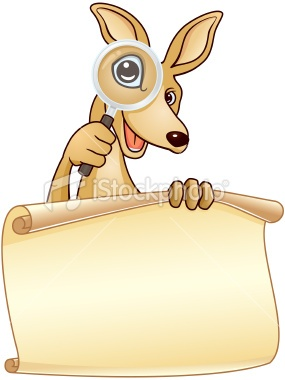http://www.istockphoto.com/stock-illustration-23369579-kangaroo-holding-a-paper-sign.php