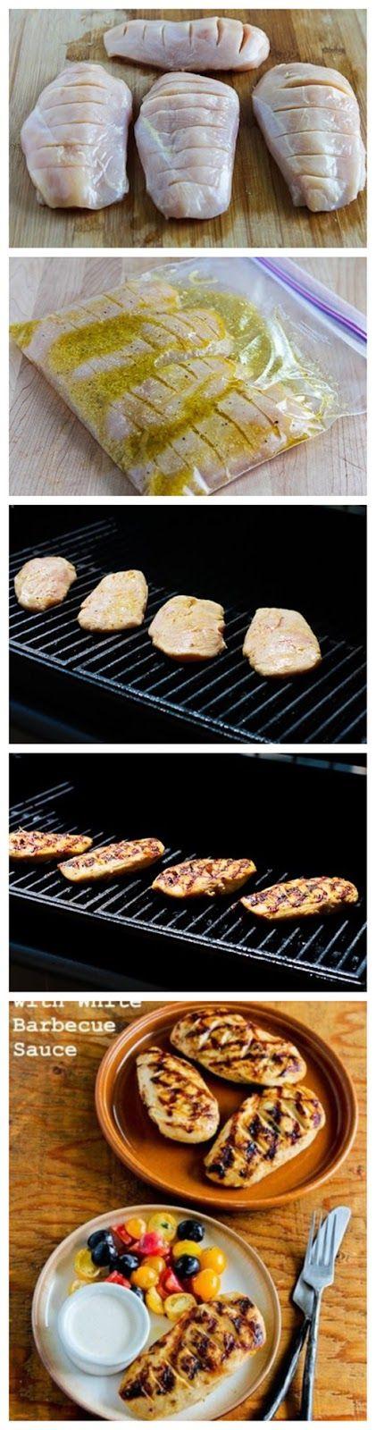 Frango grelhado com molho Barbecue Branco