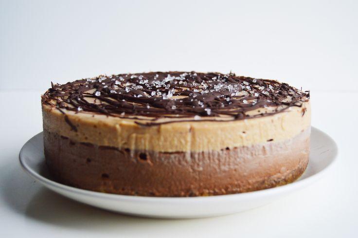 Vegan Chocolate Salted Caramel Cheesecake | Recipe | Salted caramels ...
