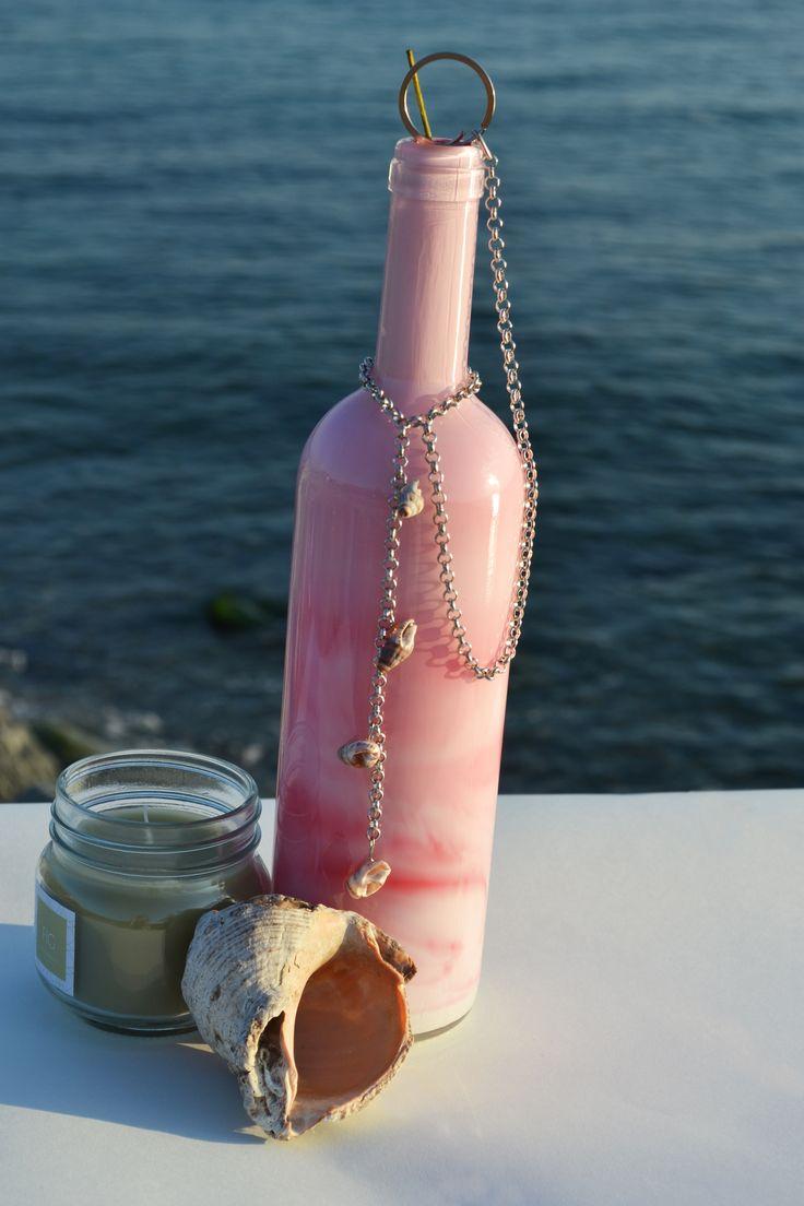şarap şişesinden elde üretilmiş tütsülük