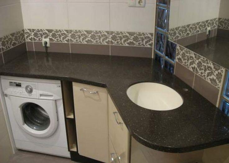 угловая мебель для ванны с встроенной стиральной машиной