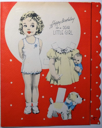 Paper Doll Looks OLD from another generation but it could be a reproduction too.